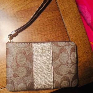 Small Wristlet from Coach BRAND NEW